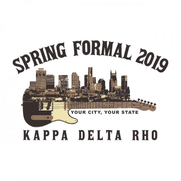 25b9a9092 Kappa Delta Rho Spring Formal | Greek House: Custom Apparel For ...