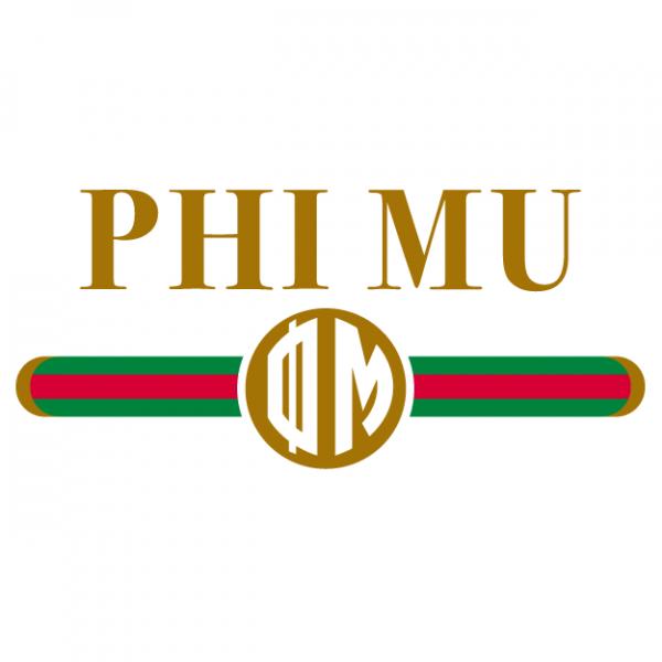 Phi Mu Gucci Greek House Custom Apparel For Sororities Fraternities