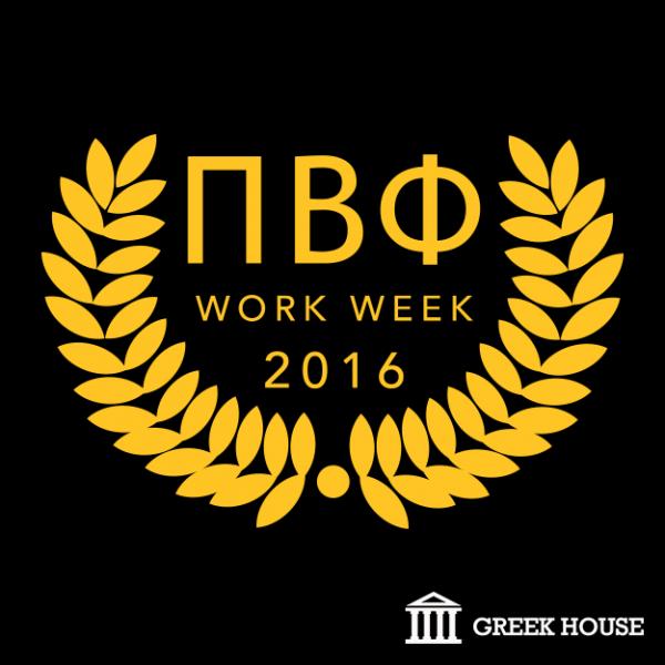 Pi Beta Phi Work Week Greek House Custom Apparel For Sororities