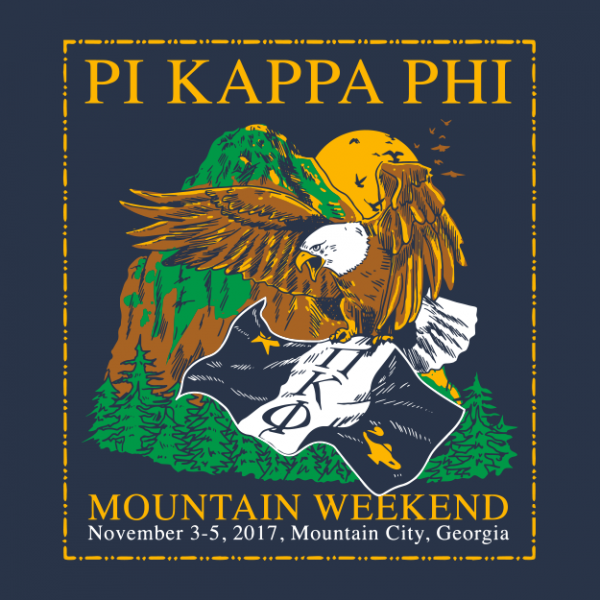 Pi Kappa Phi Mountain Weekend Greek House Custom Apparel For